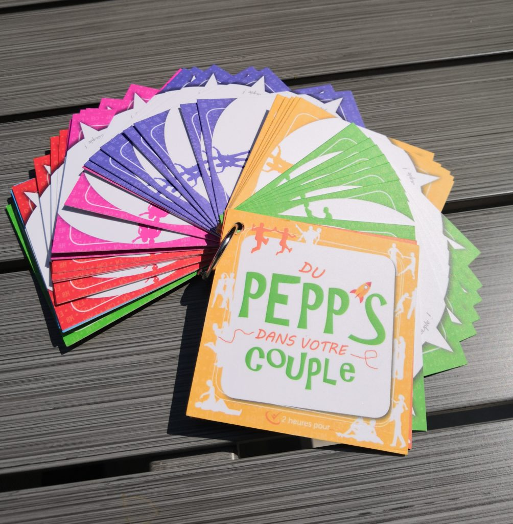 Le jeu PEPP'S pour être heureux en couple durablement. 2 heures pour